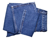 Blue jeans on a white background Stock Photography