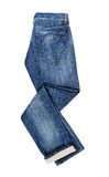 Blue Jeans  on White Royalty Free Stock Photos