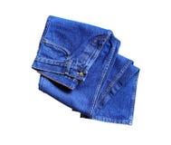 Blue Jeans On White Stock Photos