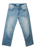 Blue Jeans on White Stock Photo