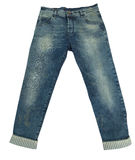 Blue Jeans on White Royalty Free Stock Images
