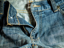 Blue jeans worker style. Blue jeans in worker style Royalty Free Stock Image