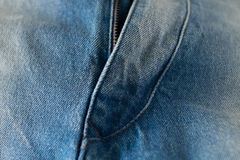 Blue Jeans Zipper stock photos