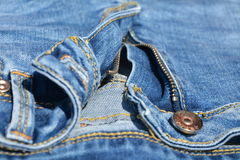 Blue jeans and zipper Stock Photography