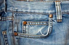 Blue Jeanshintergrund Lizenzfreies Stockbild