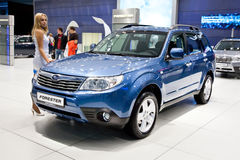 Blue jeep car Subaru Forester Stock Image