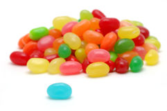 Blue jelly bean stand out Stock Images