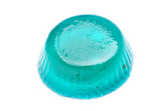Blue jelly isolated on the white background Stock Image