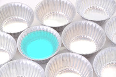 Blue jelly mold tin for bakery Royalty Free Stock Image
