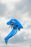 Blue Jellyfish novelty kite Royalty Free Stock Images