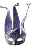 Blue Jester masquerade mask Royalty Free Stock Images