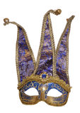 Blue jester masquerade mask Stock Photos