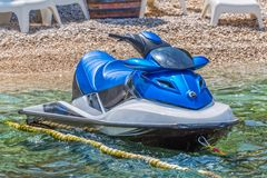 Blue jet ski scooter Royalty Free Stock Images
