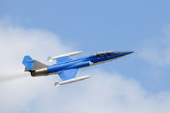 Blue jetfighter Royalty Free Stock Images