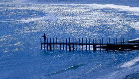 Blue Jetty Stock Photo