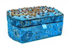 Blue jewel box Royalty Free Stock Photo