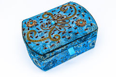 Blue jewel box Stock Photo