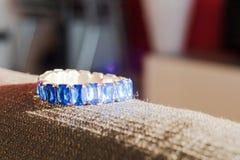 Blue jewel on the sun Stock Photography