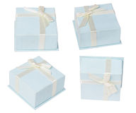 Blue jewellery box Royalty Free Stock Images