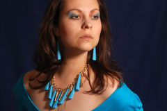 Blue jewelry Royalty Free Stock Photography