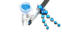 Blue jewelry Stock Photography