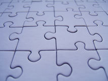 Blue jigsaw. Blue puzzle pattern royalty free illustration