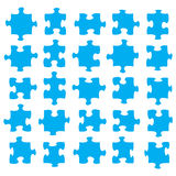 Blue jigsaw pieces Royalty Free Stock Image