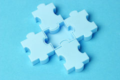 Blue jigsaw puzzles Royalty Free Stock Image