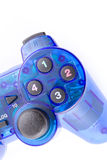 The blue joystick for controller play video game Stock Images