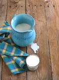 Jug and glass of milk Stock Photography