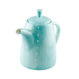 Blue jug or teapot isolated on white background Stock Photos