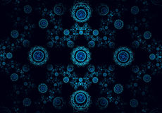 Blue julian abstract fractal Royalty Free Stock Images