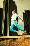 Blue jump Stock Photo