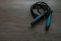 Blue jump rope Royalty Free Stock Photos