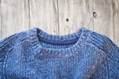 Blue jumper Stock Image