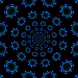 Blue kaleidoscope Royalty Free Stock Photo