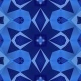 Blue kaleidoscope mosaic seamless pattern texture background Royalty Free Stock Images