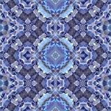 Blue kaleidoscope mosaic seamless pattern texture background Stock Photography