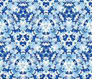 Free Blue Kaleidoscope Seamless Pattern. Seamless Pattern Composed Of Color Abstract Elements Located On White Background. Royalty Free Stock Photo - 64764625