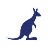 Blue kangaroo silhouette australia Stock Photo