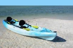 Blue Kayak Royalty Free Stock Images