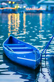 Blue Kayak on the lake Royalty Free Stock Photo
