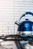 Blue kettle Royalty Free Stock Image