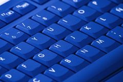 Blue keyboard Stock Images