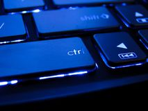 Blue keyboard royalty free stock photography