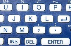 Blue Keyboard Closeup Royalty Free Stock Photo