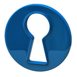 Blue keyhole Royalty Free Stock Photos