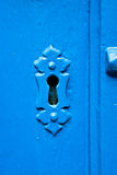 Blue keyhole Stock Photo