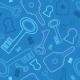 Blue keys seamless pattern background Royalty Free Stock Image
