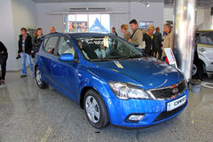 Blue KIA Pro Ceed Royalty Free Stock Photos